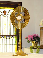 Monstrance and Blessed Sacrament St. Stephen