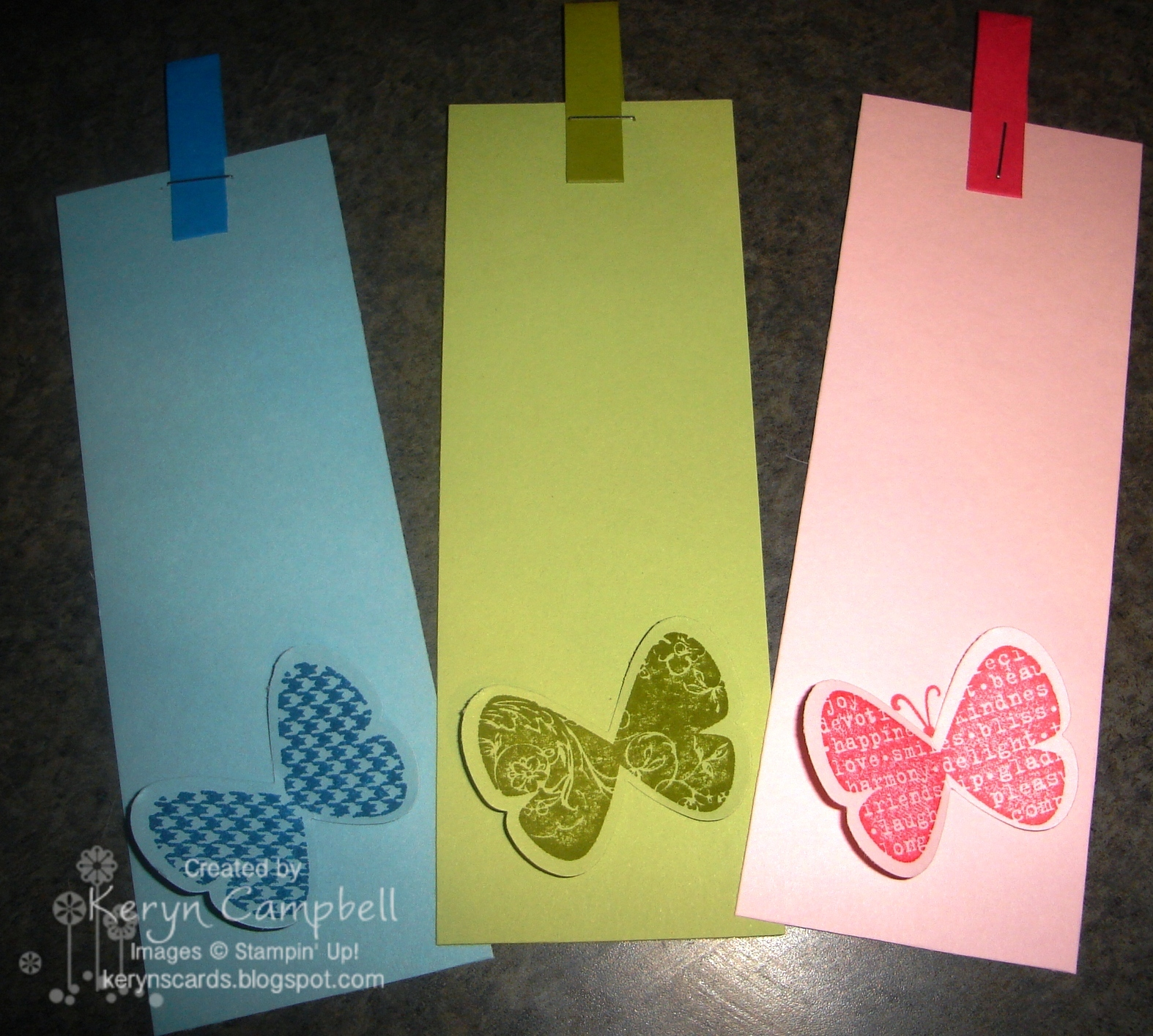 Keryn campbell quick and simple bookmark make take for How to make a simple bookmark