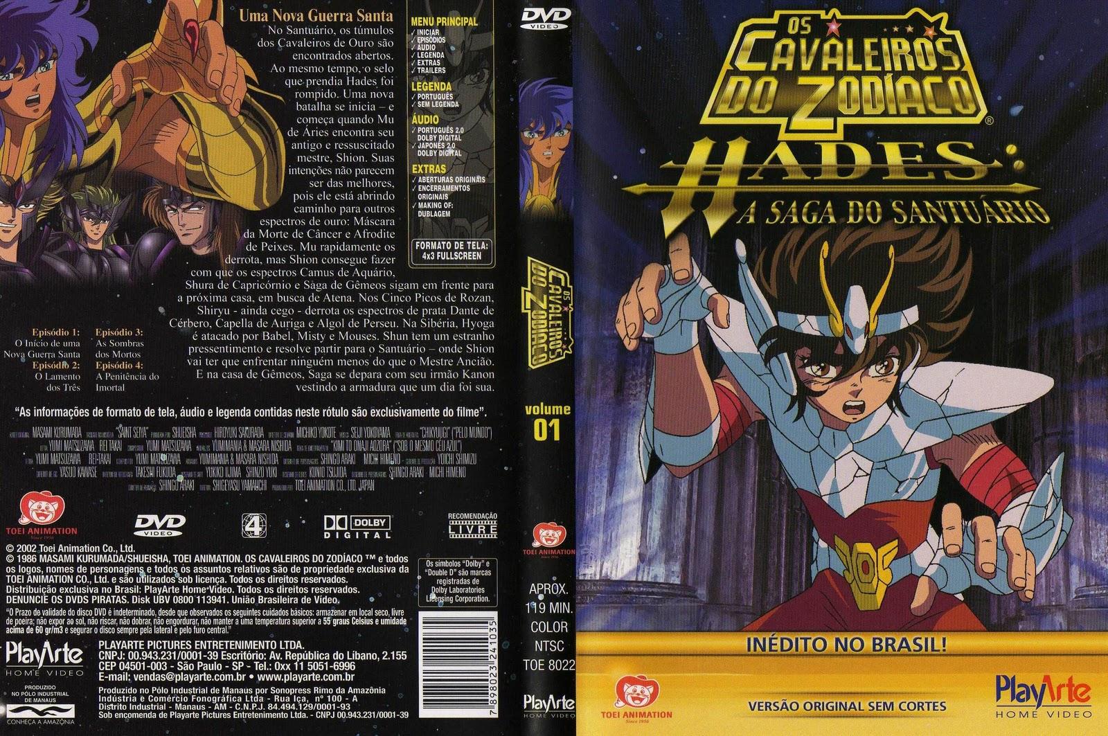 Capa Dvd Cavaleiros do Zodiaco Hades Capa Dvd os Cavaleiros do