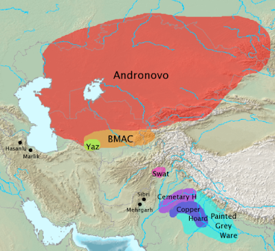Archaeological Cultures Associated With Indo Iranian Migrations After Eiec The Andronovo Bmac And Yaz Cultures Have Often Been Associated With