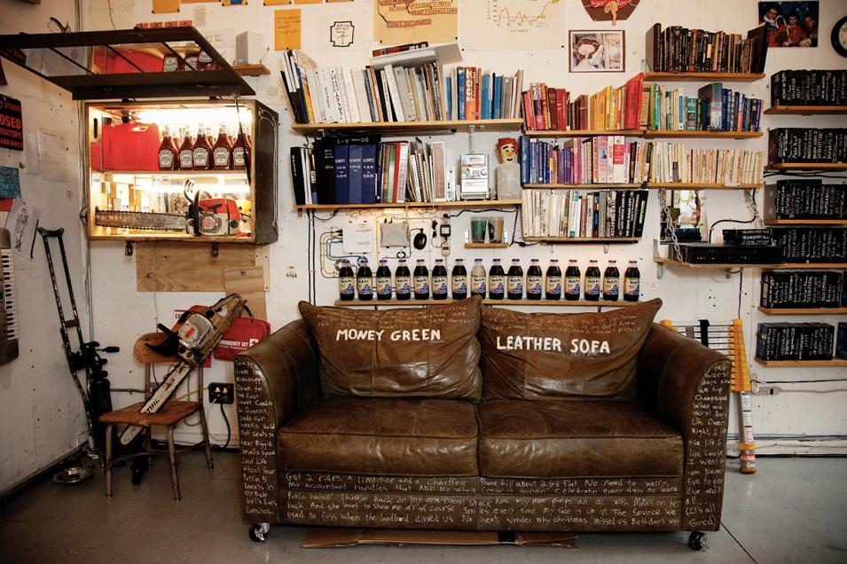 Stupendous Happenstance Money Green Leather Sofa Download Free Architecture Designs Scobabritishbridgeorg