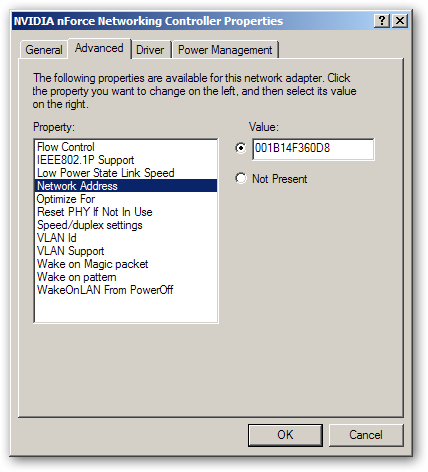 how to find mac address in xp