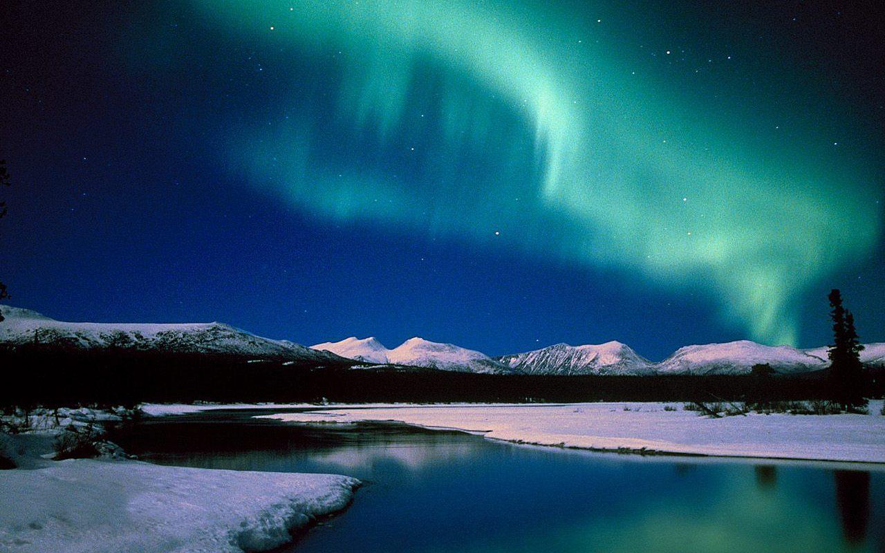 Fondo de pantalla Aurora Boreal