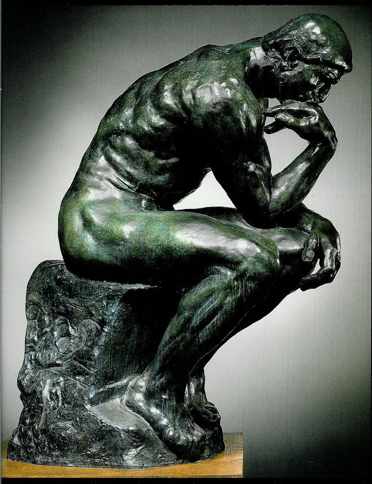 Top Le Penseur Auguste Rodin (1840 -1917) 1903-Bronze H. 180 cm ;L. 98  VS13