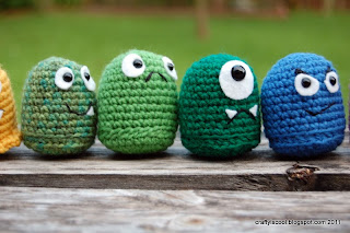 Amigurumi monsters by CraftIsCool