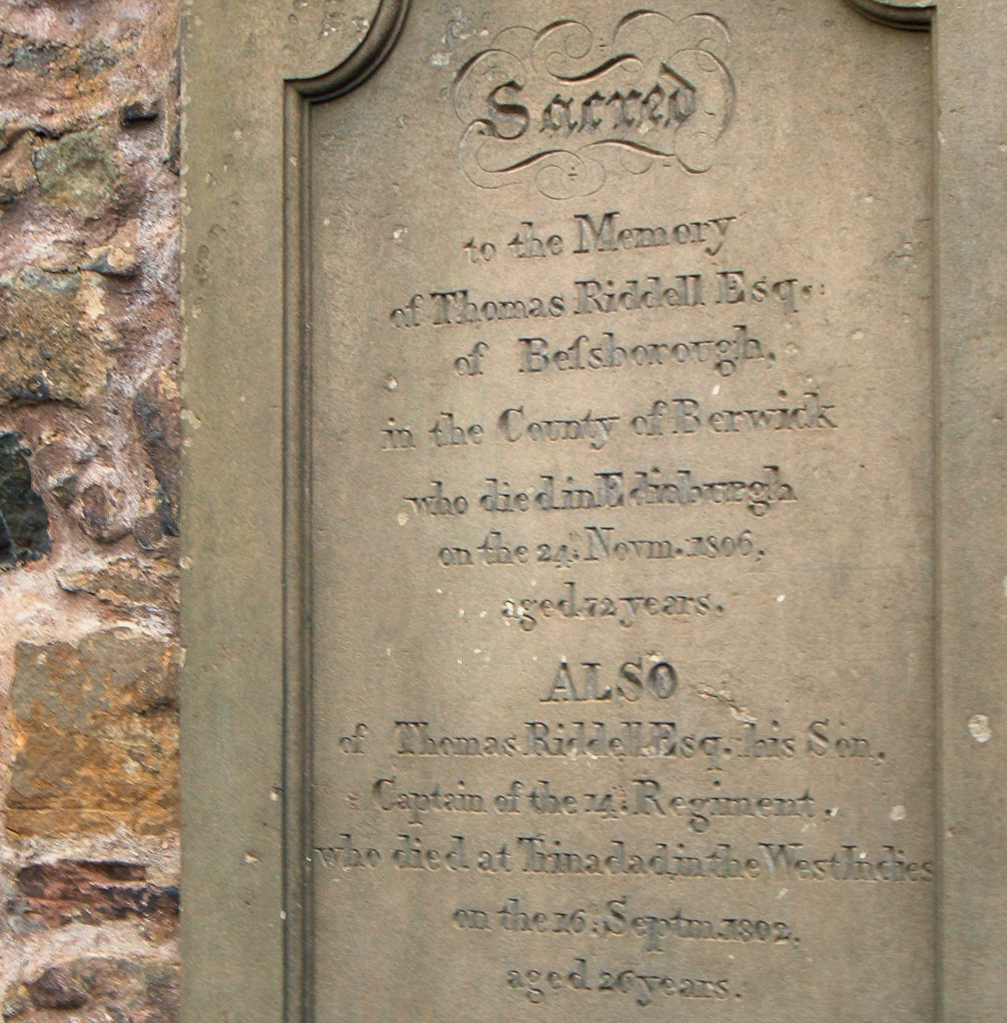 Tom Riddle's tombstone