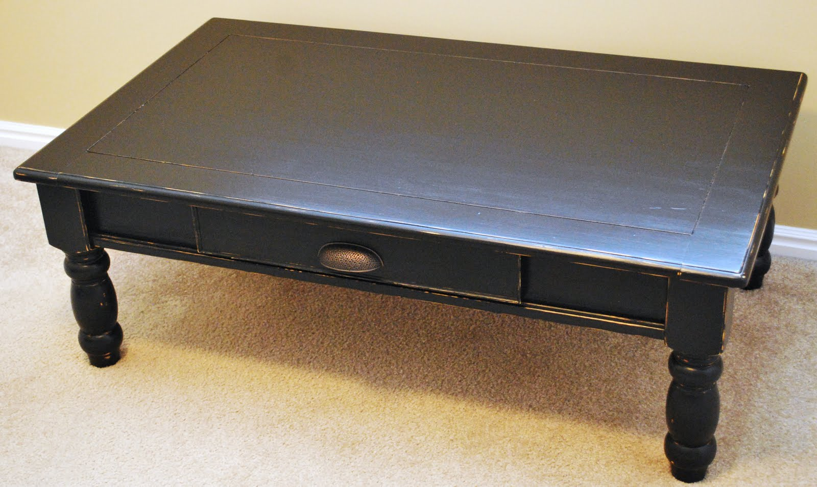 B 39 S Refurnishings Black Distressed Coffee Table