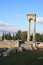 Anjar ruins - in bekaa valley