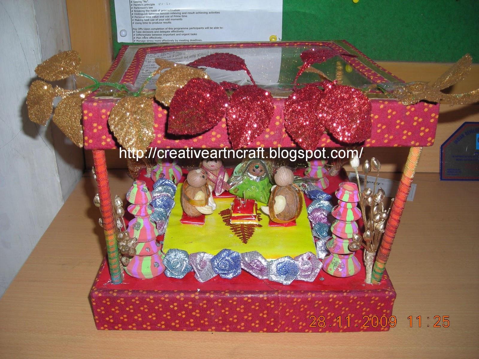 anu s art and crafts wedding card mandap decoration