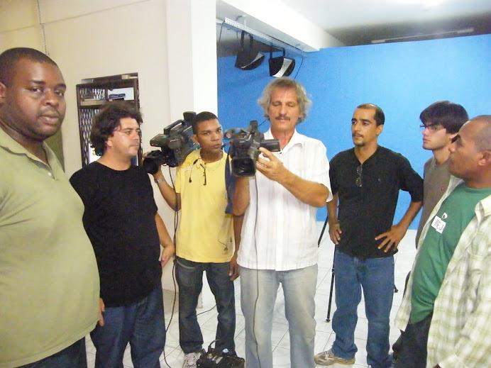AULA PRATICA DO CURSO DE CINEGRAFISTA