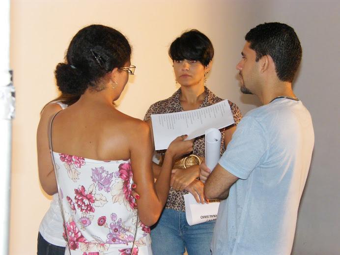 Bruno Dantralves, Paulinha e Quesy em aula no estúdio!