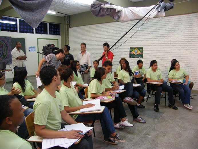 Foram 25 alunos da CAP Escola de TV em Salvador gravando