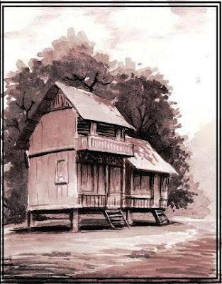 lukisan diatas adalah koleksi pribadi karya art master, berjudul rumah ...