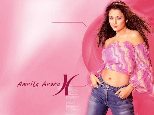 Amrita Arora Beautiful Pose Free Wallpaper