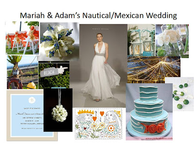 Mariah Adam 39s Nautical Mexican Wedding