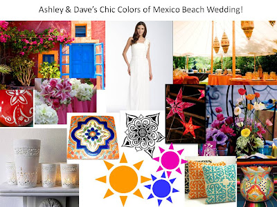 Ashley Dave 39s Chic Colors of Mexico Wedding
