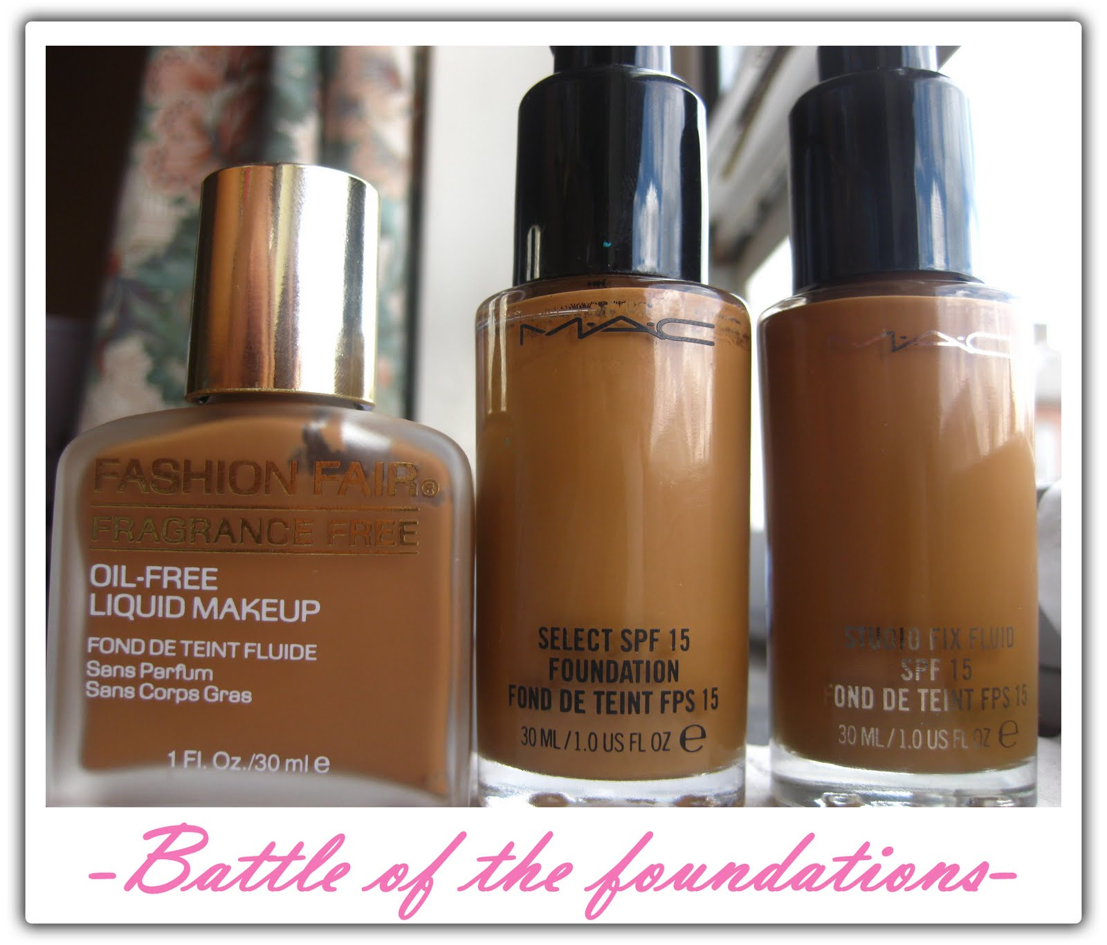 Fashion Fair Foundation Swatches of the Fashion Fair liquid