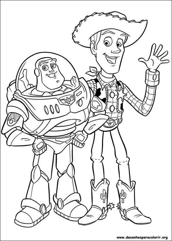 Livro de páginas para colorir do Toy Story 57 desenhos
