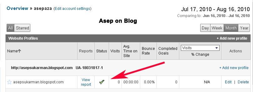 Menambahkan  Google Analytics ke Bloger