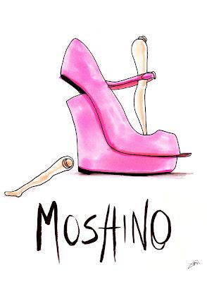 Achraf Amiri, Achraf Amiri ilustração, Achraf Amiri ilustrador, ilustração moda, desenho moda, ilustração sapato Moschino