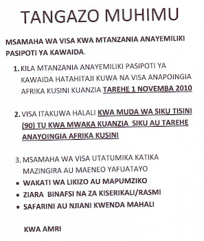 SAA Champions Tanzania Visa Waiver and wins!