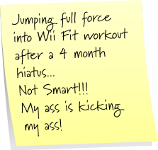 Wii Fit workout