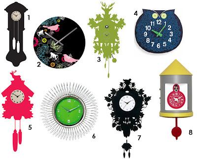 Belle Maison Cool Colorful Clocks