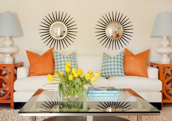 what do you think about sunburst mirrors have you used one in your decor enjoy - Sunburst Wall Decor