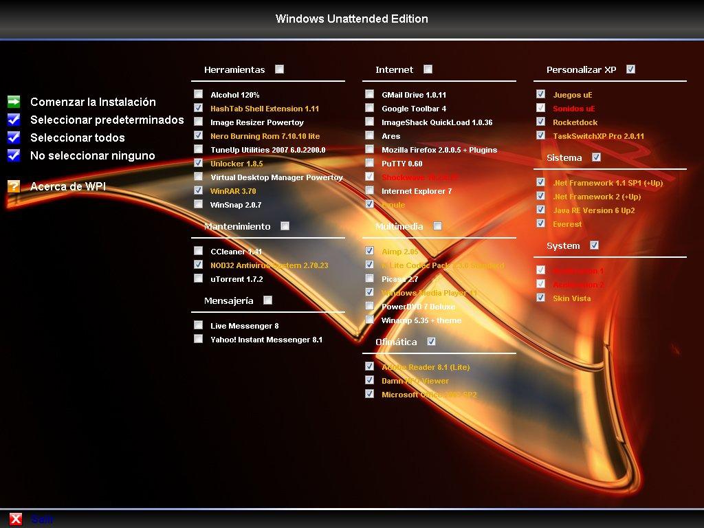 Windows Xp Ue Sp3