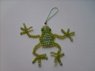 Frog Beaded Amulet Bag Pattern and Kit - Unique Beaded Jewelry