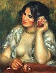 Gabrielle Com Uma Rosa - Renoir (retrato da moça que tomava conta de seus filhos)