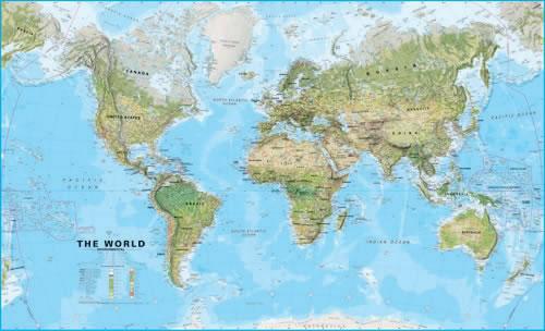 mudurchgehead: mapa del mundo politico