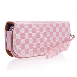Women's wallet? Nice checker Pouch Bag for PSP2000