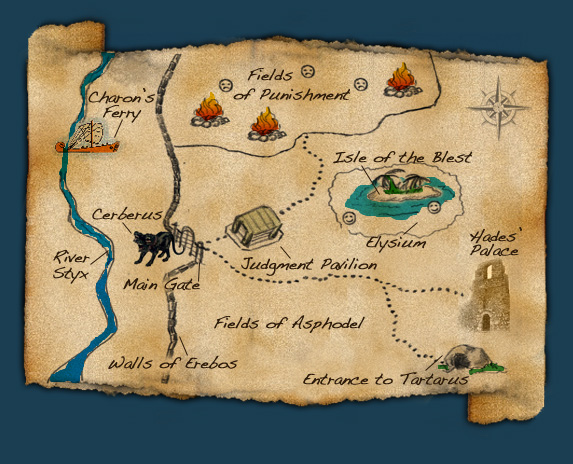 Percy Jackson  the Olympians Blog Map of the Underworld by