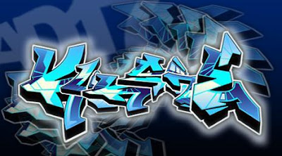 graffiti 3d,graffiti blue