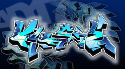 graffiti 3d,graffiti blue