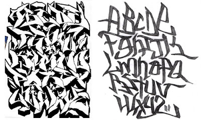 graffiti alphabet letter a-z, graffiti letter font a z,black and white graffiti,