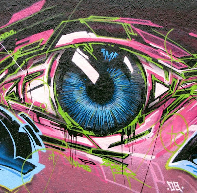 wall street, graffiti street,eye art graffiti