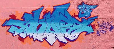 graffiti name,shape name,blue graffiti