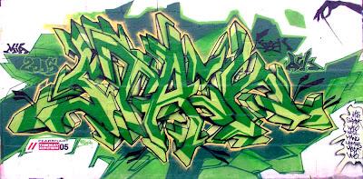 graffiti arrow colour green