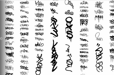 graffiti taxonomy wall