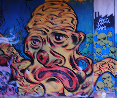 graffiti monsters, wall street graffiti