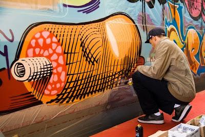 nunca graffiti, train graffiti