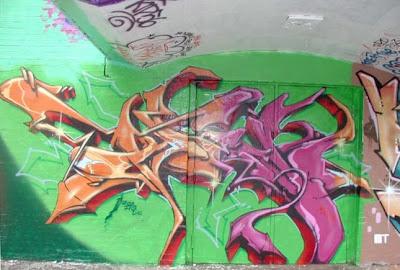 tribal full color, art graffiti wall