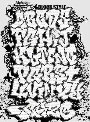alphabet graffiti font