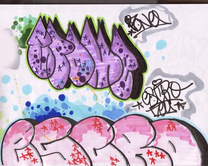 create graffiti sketches