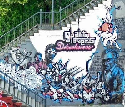 graffiti stairs, stairs wall