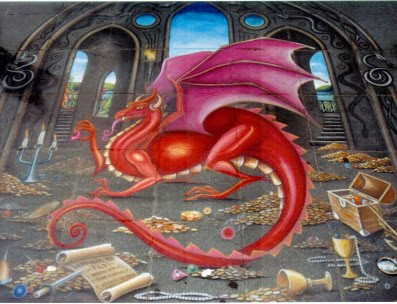 graffiti dragon, graffiti 3d, graffiti paving