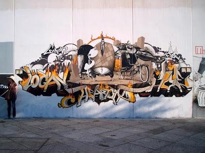 alphabet graffiti, spain graffiti, mural graffiti