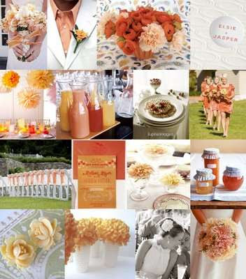 Peach Apricot Orange Wedding Ideas